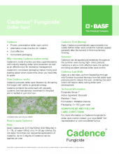 Cadence Dollar Spot Tech Sheet